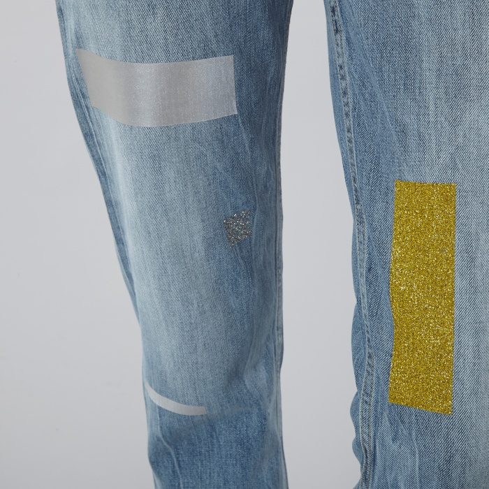 Aries Norm Jeans Taped - Blue/Multi (Image 1)