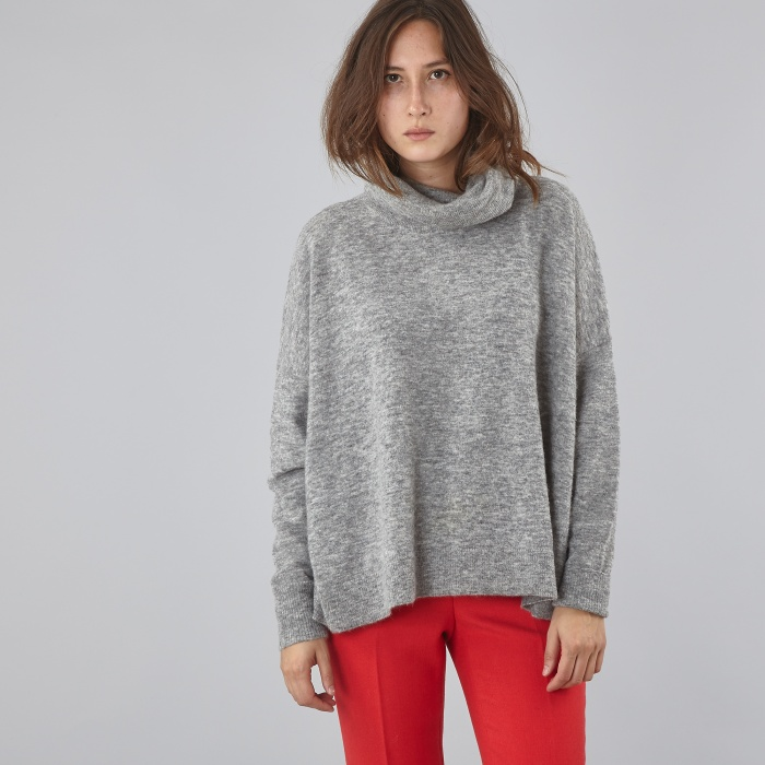 Designers Remix Alta Sweater - Light Grey Melange (Image 1)