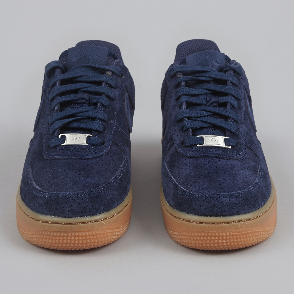 nike air force 1 navy suede trainers