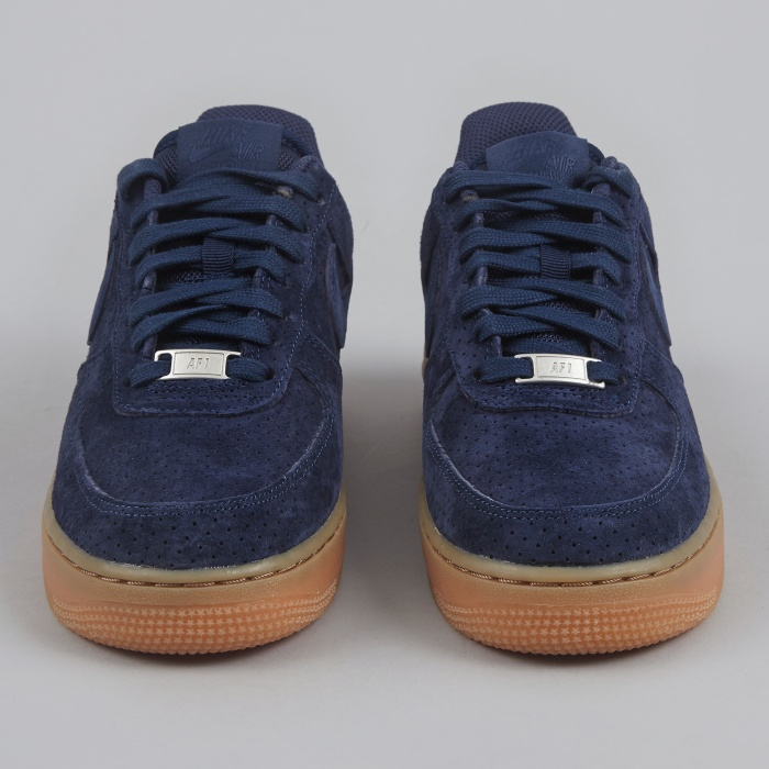 Nike Air Force 1 '07 Suede - Midnight Navy (Image 1)