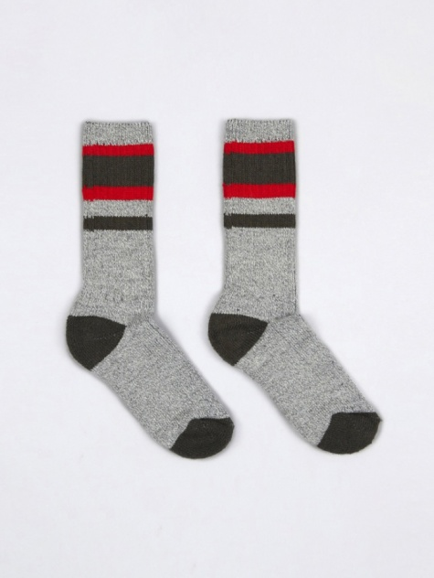 Lakewood Socks - Charcoal/Red
