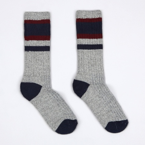 Lakewood Socks - Navy/Burgundy