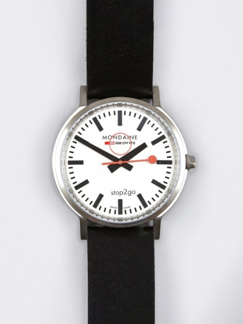 stop2go Gents 41mm Watch - White/Black