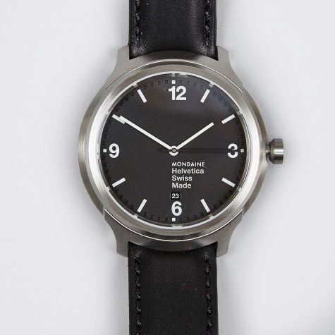 Helvetica No1 Bold 43mm Watch - Black/Black