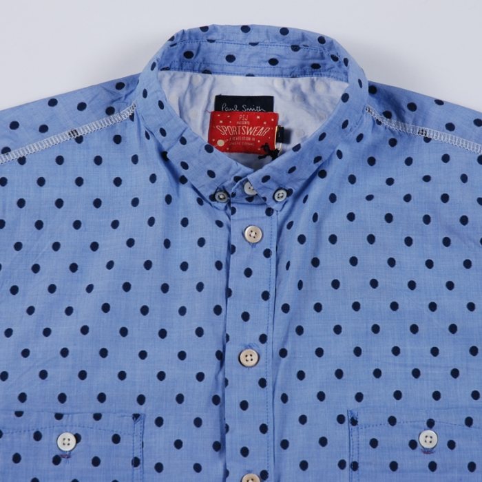 Paul Smith Polka Dot Shirt - Blue (Image 1)