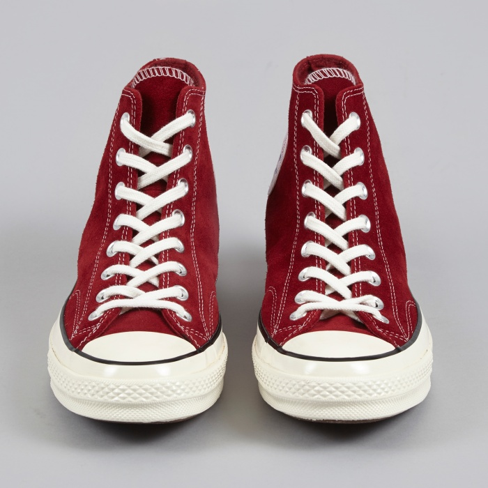 48dff045598d Converse 1970s Chuck Taylor All Star Hi Suede - Red Dahlia (Image 1)