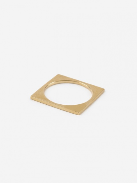 Square Ring - 10K Gold