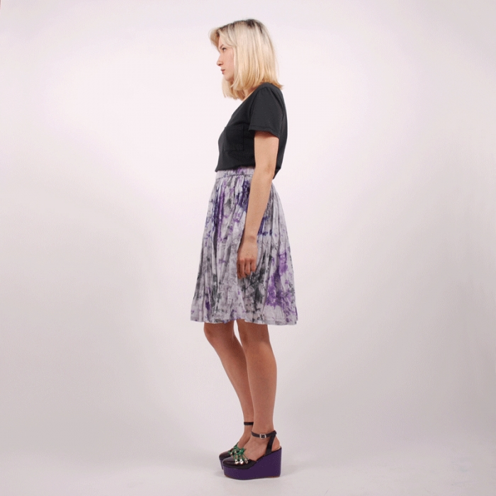 Perks & Mini PAM Mixed Skirt - Greys (Image 1)
