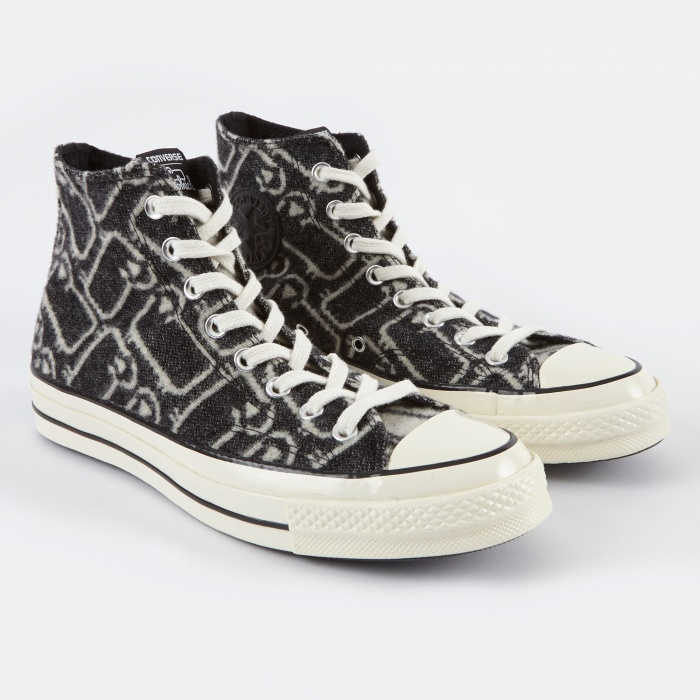 Converse 1970s Chuck Taylor All Star Hi Woolrich - Black (Image 1)