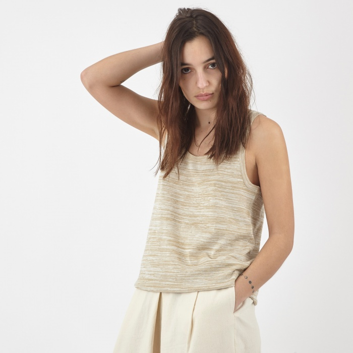Nanushka Leni Knit Tank Top - Natural (Image 1)