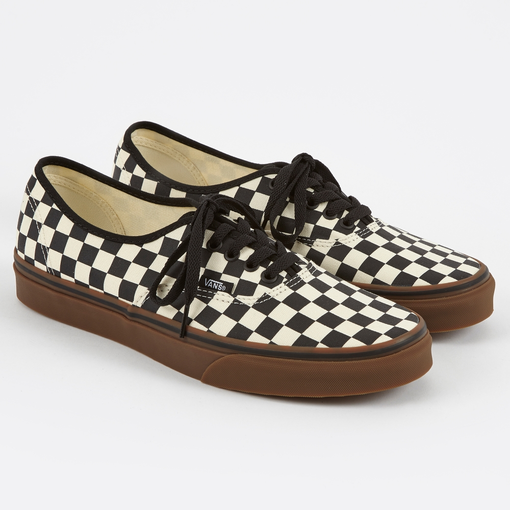 black and white checkerboard vans authentic