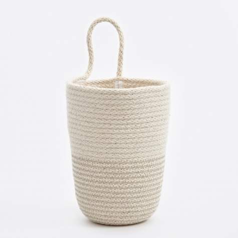 Large Pencil Bucket - Grey/White