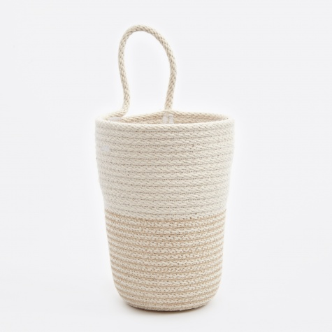 Large Pencil Bucket - Beige/White