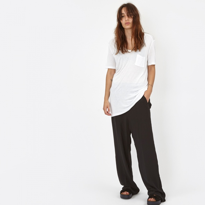 Alexander Wang T By Alexander Wang Classic T-Shirt With Pocket - White (400200C (Image 1)
