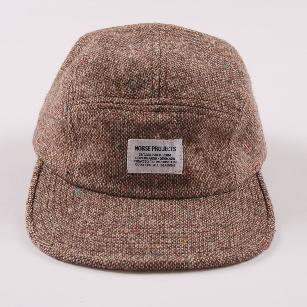 beb044029aa Norse Projects Tweed Fleck 5 Panel Cap