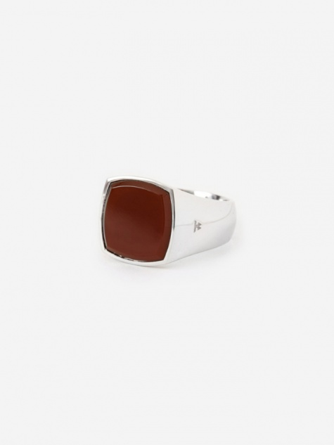 Cushion Ring - Red Agate