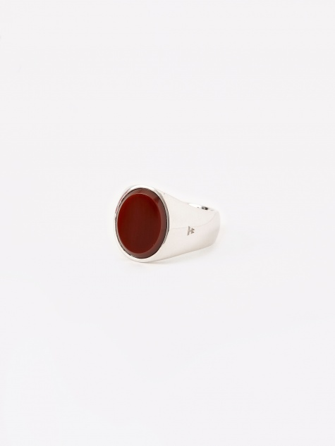 Oval Ring - Red Agate