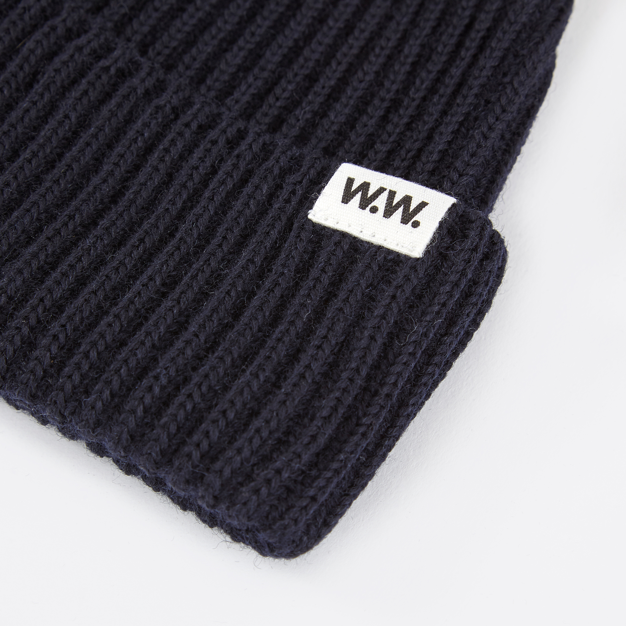 2b372e99e Wood Wood Eugene Ribbed Beanie - Dark Navy