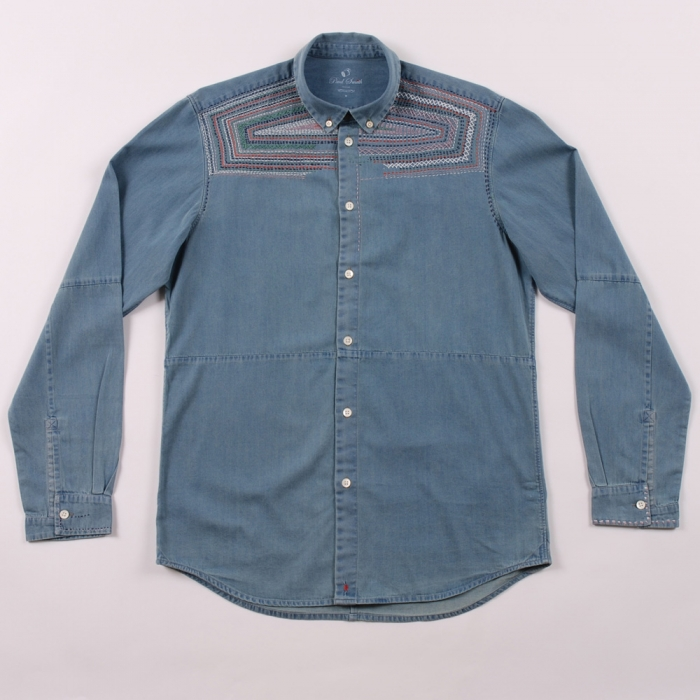 Paul Smith Embroidered Denim Shirt (Image 1)