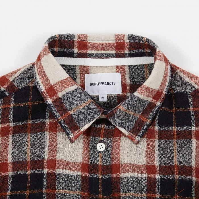 Norse Projects Anton Loose Weave Gauze Shirt - Ecru (Image 1)