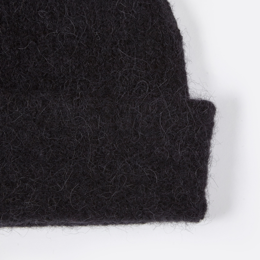 55f012d5e Our Legacy Knitted Hat - Black Needled