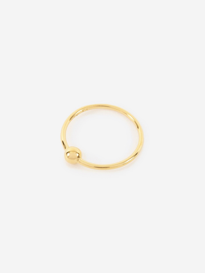 Maria Black Helix Ring - 14K Gold Plated (Image 1)