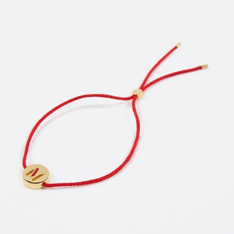 Red Cord M Bracelet - 18K Gold Plated