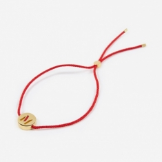 Ruifier Red Cord M Bracelet - 18K Gold Plated
