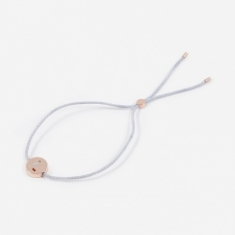 Ruifier Grey Cord L Bracelet - 18K Rose Gold Plated