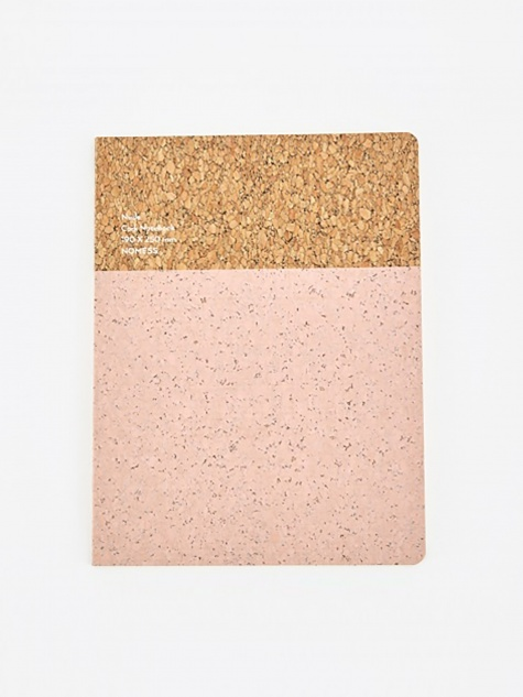 Cork Notebook Nude - Large