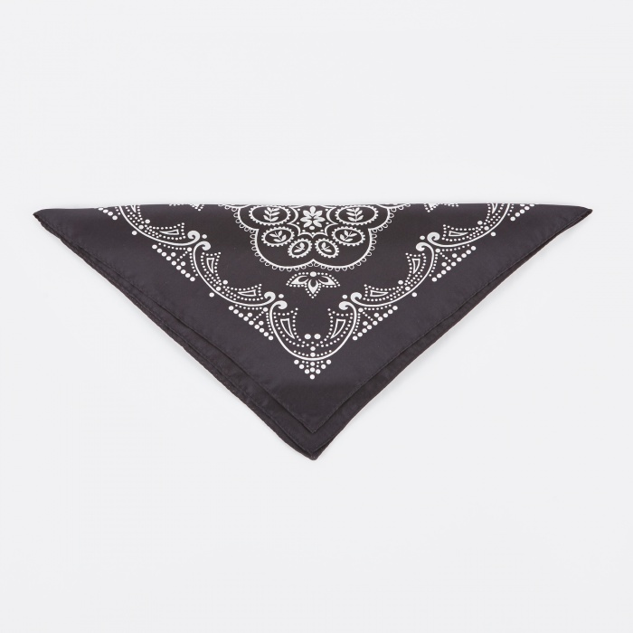 Unused Silk Bandana Paisley - Black (Image 1)