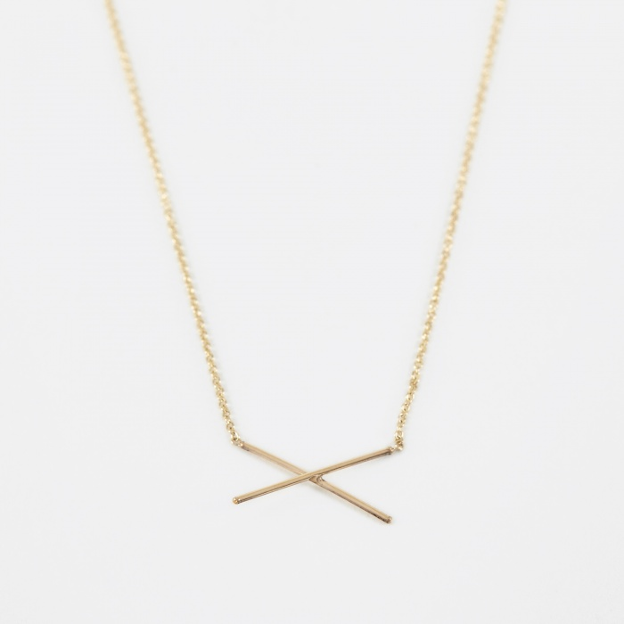 Gabriela Artigas X Necklace - 14K Yellow Gold (Image 1)