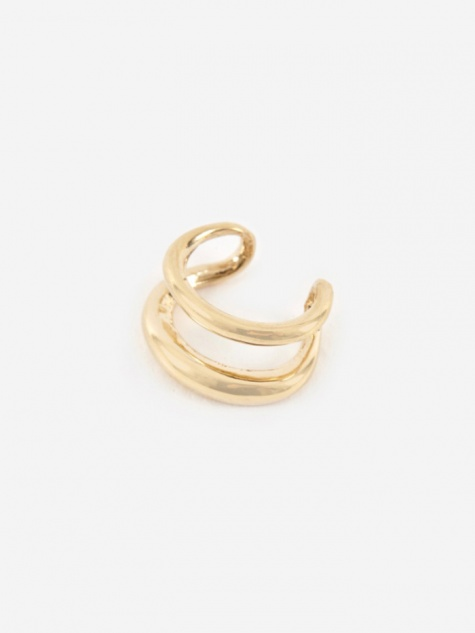 Twin Tusk Ear Cuff - 14K Yellow Gold
