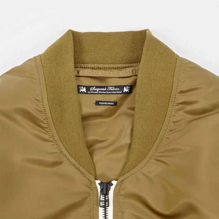 Sasquatchfabrix. Do Not Kill Korosuna Flight Jacket - Khaki (Image 1)