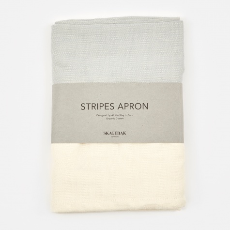 Stripes Apron Short - Whisper White/Light Grey