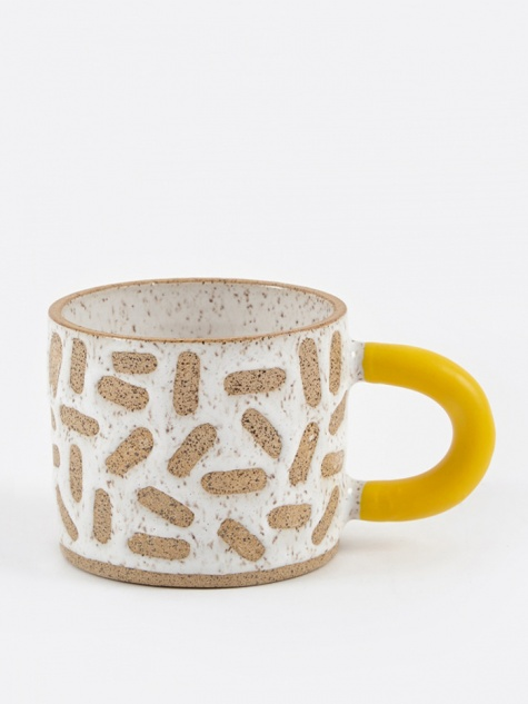 Rubber-Dipped Raw Mark Mug