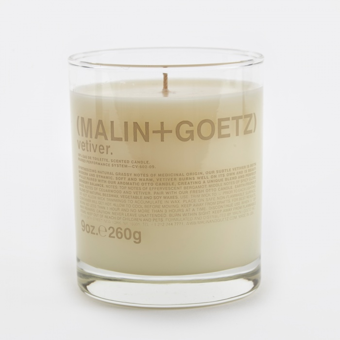 Malin+Goetz Scented Candle 260g - Vetiver (Image 1)