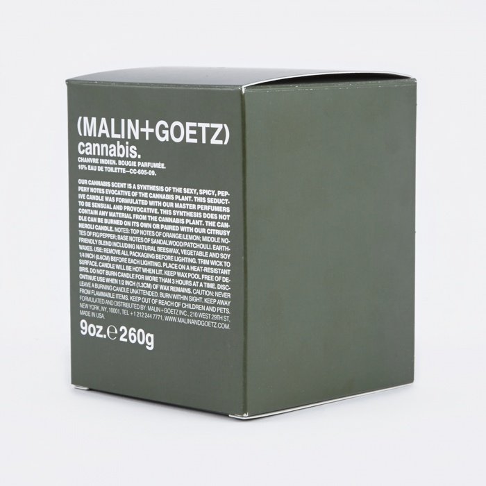 Malin + Goetz Malin+Goetz Scented Candle 260g - Cannabis (Image 1)