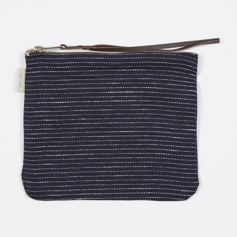Canna Pouch Navy Pin Stripe - Medium