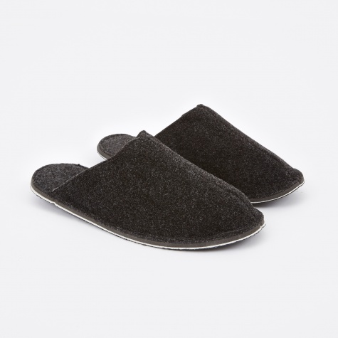 Dark Grey Wool Slipper - Small