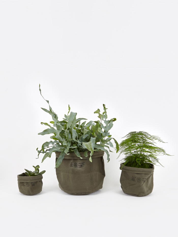 Puebco Canvas Pot Cover Set Of Three - Olive (Image 1)