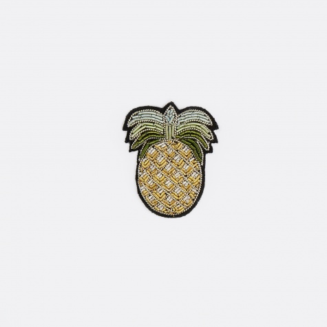 Pineapple Gold Embroidered Pin