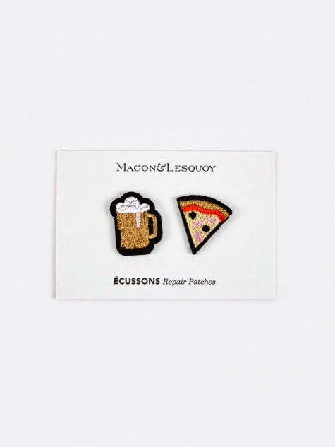 Beer & Pizza Repair Patches