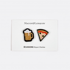 Macon & Lesquoy Beer & Pizza Repair Patches