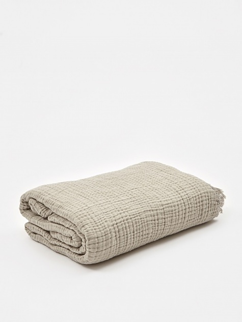 Crinkle Throw 150x210cm - Grey