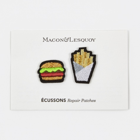 Burger & Fries Repair Patches