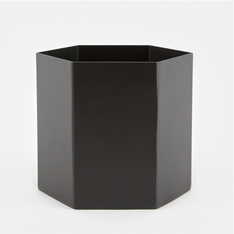 Hexagon Pot Large - Black