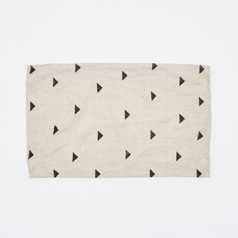 Hannah Black Triangles Classic Tea Towel