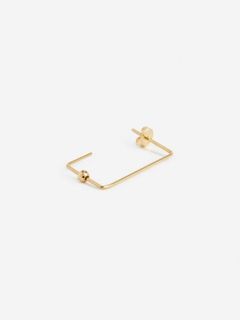 Rectangle Earring - 18K Gold