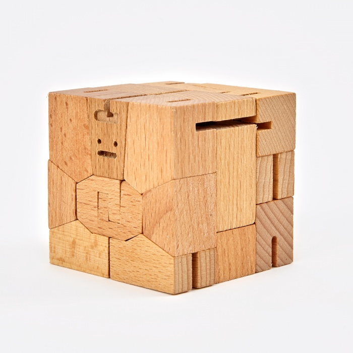 Areaware Cubebot Guthrie -  Wood (Image 1)